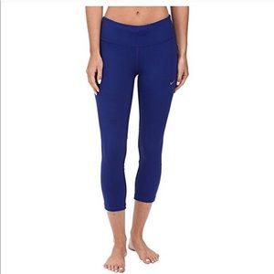 Nike women's running dri fit leggings tights blue
